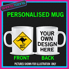AUSTRALIA KANGAROO SIGN BIRTHDAY MUG GIFT PERSONALISED