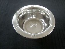 Stainless Steel Bowl (1 Pint) Embossed Paw Print - Cat Station
