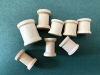Lot of 40 miniature wooden spools for crafts