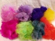 CRAZY Cormo Curls Hand dyed multi color pack spin felt doll and fairy hair  soft