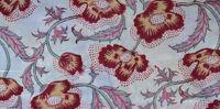 Sanganeri Indian Hand Block Print Pure 100% Cotton Fabric Running 3 Yard White