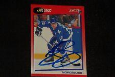 HOF JOE SAKIC 1991-92 SCORE SIGNED AUTOGRAPHED CARD #25 NORDIQUES
