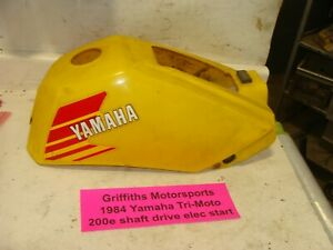 1984 Yamaha Tri-Moto 200E shaft gas fuel tank yellow plastic cover body