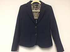 Women's cardigan Jacket by Galvanni Size M Sax Wool Blend