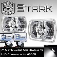 7x6 H6054 H6052 H6014 Glass Head Light Housing Diamond - Full HID Conversion Kit