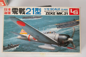 Maquette plastique LS de l'avion Mitsubishi Type 21 ZEKE au 1/72