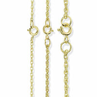 9CT SOLID GOLD 16 18 20 22 24 28 SOLID OVAL BELCHER ROPE POW CHAIN NECKLACE BOX