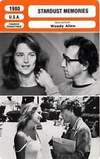 FICHE CINEMA : STARDUST MEMORIES - Woody Allen,Charlotte Rampling 1980