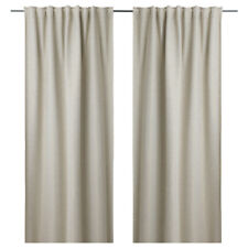 Ikea Block out Curtains Living Room Bedroom Window Blinds Sheer Panels 250x145cm