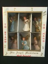Angel Musicians Vintage Set of Six in Original Box Hand Decorated