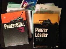 Avalon Hill Panzerblitz Panzer leader game lot & bonus variant General magazine
