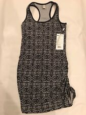 Mondetto Active Lifestyle Ruched Side Shift Dress Black Sz Small NWT Soft Lycra