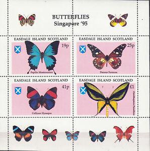 Easdale Island Singapore 95 Butterflies Mini Souvenir Sheet MNH Low Shipping