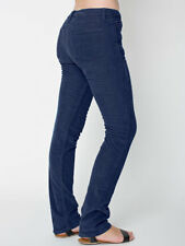 NWT American Apparel Women's Corduroy Slim Slack Pants Midnight Blue Size 36