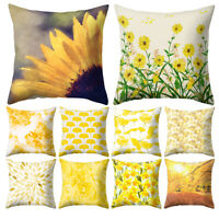 18'' Flower Leaf Pattern Pillow Case Cushion Cover Sofa Bed Car Home Decor Arden