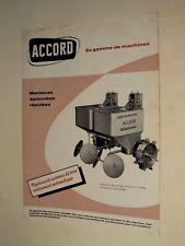 Prospectus Planteuse Pomme de Terre Accord Tracteur Traktor prospekt brochure
