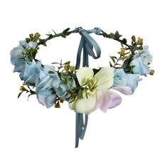 De Novia Bohemio Grande flor diadema guirnalda Festival Boda CORONA VID