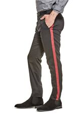 G By Guess Men's Streifed Striped Skinny Jeans Jet Black Stretch Pants Size 33