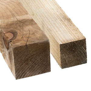 Fence Posts Support Tanalised Wood Gate Fencing Timber Lengths Garden 3x3 4x4