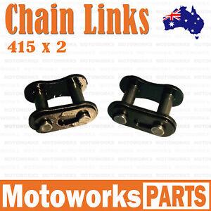 2 x 415 Chain Join Links Motorised Push bike Motorized Bicycle 66cc 70cc 80cc 1