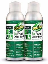 OdoBan One-Shot Food Odor Bomb Fogger 5 oz 2pk Fast Acting Fogger Great for Home