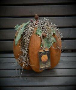 OOAK vintage style primitive folk art pumpkin!! handmade pumpkin