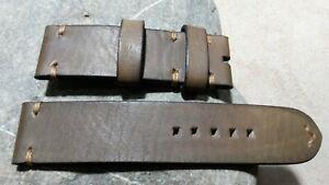 handmade watch strap genuine leather 23mm for Tudor bronze