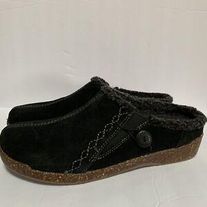 New EARTH Origins Womens Aurora Johanna Clogs Flats Shoes Size 10 M Black Suede