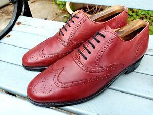 Barker Cherry Wingtip Shoes. Size 7.5.