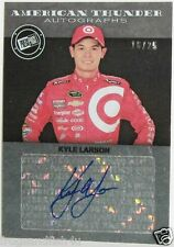 KYLE LARSON / PRESS PASS / AMERICAN THUNDER / AUTOGRAPH / SIGNED CARD 16 / 25