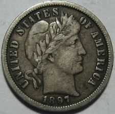 = 1897-O VF+ BARBER Dime, Super Color & EYE Appeal, FREE Shipping