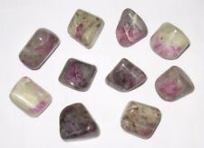 "1 Ruby in Feldspar Tumbled Lg./XL Sz. 1-1/8"" - 1-1/4"" Hand Polished India"