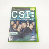 CSI Crime Scene Investigation Microsoft Xbox Video Game Complete In Box Genuine