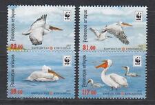 Birds Kyrgyzstan Kirgistan 2017 MNH** Mi. 883-886 A Pelikan Pelican WWF