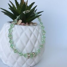 Ella Bracelet - Genuine Swarovski Crystals - Summer Green - Wedding - Bridal
