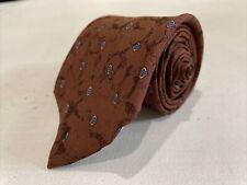 Givenchy Men's Brown Geometric Silk Neck Tie $198