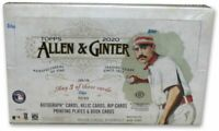 2020 Topps Allen & Ginter Baseball Factory Sealed Hobby Box (3 Hits Per Box)