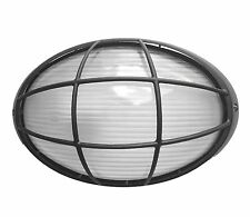 LED compatible Black Caged Wall Mounted Outdoor House Bunker Lights