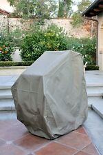 Premium Tight Weave Stacking Patio Chair Chairs Cover Taupe