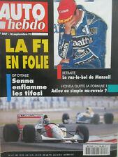 AUTO HEBDO: n°847: 16/09/1992: GILLET VERTIGO - SUZUKI SWIFT 1.3i GTI - MANSELL