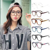 Vintage Mens Women's Optical Glasses Frame Clear Glass Round Transparent Glasses