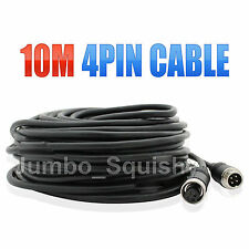 4 PIN 10M REVERSE REVERSING MONITOR CAMERA REPLACEMENT EXTENSION CABLE