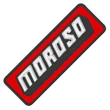 """Racing Sponsoren Fan aufnäher """" Moroso"""" 9 x 3 cm"""