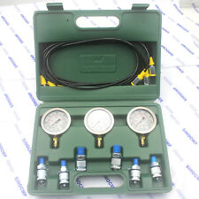 Hydraulic Pressure Gauge Test Kit For Most Excavator Diagnostic Tool
