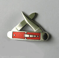 REMINGTON DOUBLE PULL KNIFE NOVELTY LAPEL PIN 1 INCH