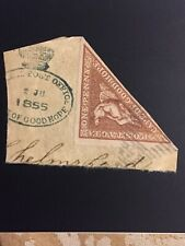 South Africa Stamp CAPE OF GOOD HOPE 1855  One Penny Pale Brick-Red