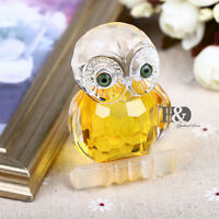 Crystal Glass Owl Animal Figurines Paperweights Wedding Collectibles Xmas Decor