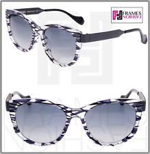61e81e8ce71e FENDI Thierry Lasry SLIKY FF0181S Matte Black Lilac Square Metal Sunglasses  0181