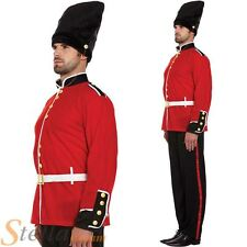 Mens Busby Queens Guard Buzby Soldier Fancy Dress Costume Adult Outfit