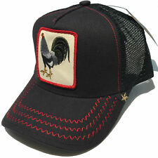 NEW GOLD STAR BLACK ANIMAL FARM FIGHT GREY COCK TRUCKER HAT BLACK